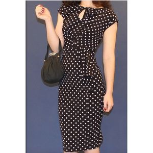 Timeless Polka Dot Pin up Retro Fitted Dress